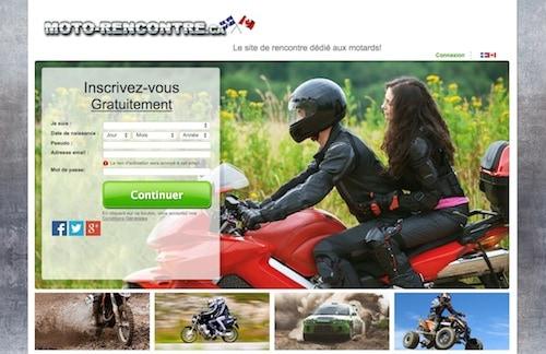 Rencontrez  en ligne des célibataires fans de la moto!