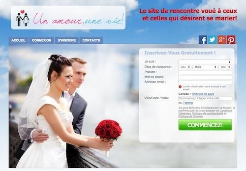 Ce site est dédié aux gens qui cherchent une relation sérieuse pour la vie!