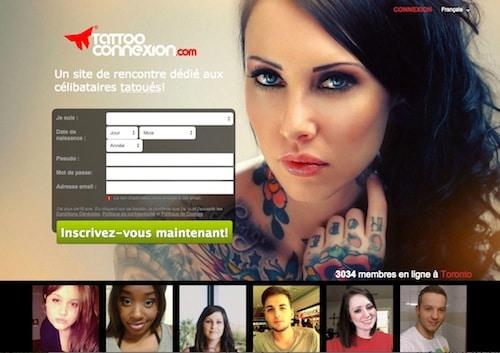 Un site pour connaître des célibataires tatoués